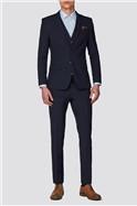 Navy Plain Slim Fit Suit Trousers