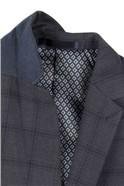 Studio Airforce Crepe Check Super Slim Fit Brit Suit Trousers