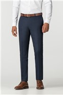 Navy Donegal Slim Fit Trousers