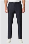 Navy Casual Cotton Trousers