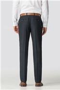 Navy Herringbone Tailored Fit Trousers