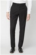 Black Twill Regular Fit Performance Trousers