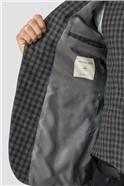 Grey Check Athletic Fit Jacket