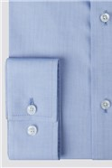 Blue Herringbone Performance Shirt
