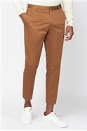 Tan Cotton Trouser