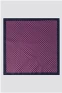 Fuchsia Geo Tie & Pocket Square Set