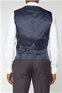 Oxblood Panama Athletic Fit Waistcoat