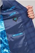 Cartwright Blue Check Slim Fit Suit