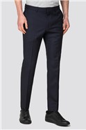 Navy Rust Structure Skinny Fit Trousers