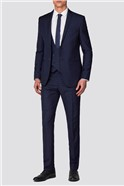 Branded Deep Blue Multi Checked Slim Fit Suit
