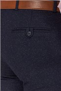 Navy Speckle Tailored Fit Trouser