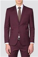 Burgundy Slim Suit Trousers