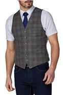 Stvdio Brown Check Waistcoat