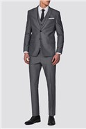 Branded Light Grey Tonic Suit Trousers