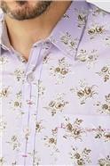 Lilac Rose Print Shirt