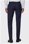 Navy Micro Formal Tailored Trousers