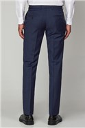 Blue Caramel Check Formal Tailored Trousers