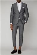 Silver Grey Slim Crop Length Trouser