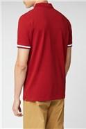 Mod Stripe Detail Polo - Red