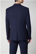 Deep Blue Structure Slim Fit Trouser