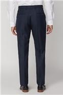 Navy Check Woolblend Regular Fit Waistcoat