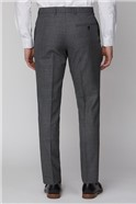 Charcoal Texture Tailored Fit Suit Trousers