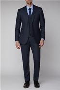 Navy Birdseye Tailored Fit Suit