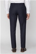 Navy Camel Stripe Tailored Fit Trousers