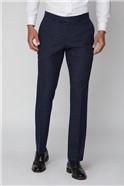 Navy Speckle Slim Fit Suit Trouser