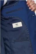 Blue Semi Plain Regular Fit Suit Trouser