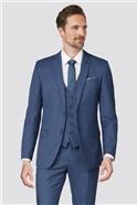 Bright Blue Textured Waistcoat