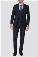 Deep Blue Texture Tailored Fit Suit Trouser