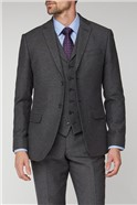 Charcoal Honeycomb Texture Tailored Fit Suit