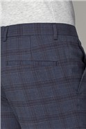 Slate Blue Slim Fit Check Suit