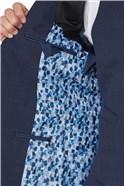 Navy Hopsack Regular Fit Travel Waistcoat