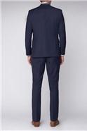 Blue Windowpane Regular Fit Travel Suit
