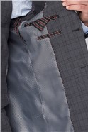 Grey Green Check Regular Fit Travel Suit