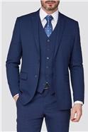 Stvdio Blue Jacquard Texture Tailored Fit Performance Suit