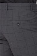 Charcoal & Green Window Check Travel Waistcoat