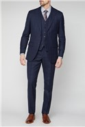 Navy Boucle Windowpane Checked Suit