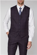 Stvdio Mulberry Check Ivy League Waistcoat