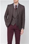 Stvdio Burgundy Textured Ivy League Suit