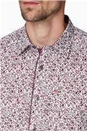 Wine Floral Print Shirt