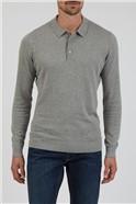 Grey Long Sleeve Polo