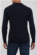 Navy Long Sleeve Polo