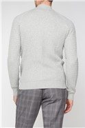 Grey Cable Knit Zip Through