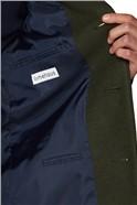 Khaki Melton Slim Fit Overcoat