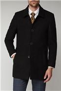 Black Melton Car Coat