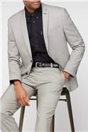 Mustard Puppytooth Slim Fit Suit Trouser