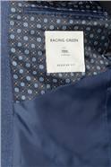 Bright Blue Texture Regular Fit Suit